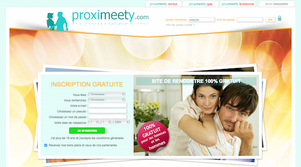Proximeety, site de rencontre multiple.